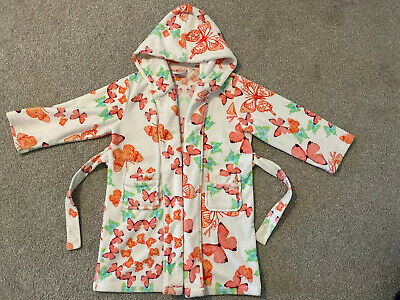 Girls Coral & Pink Ted Baker Butterfly Dressing Gown Age 5-6 Years