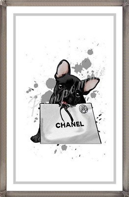 A4 Coco Chanel Fashion Print Wall Designer Dog Art Picture Home Decor Bedroom