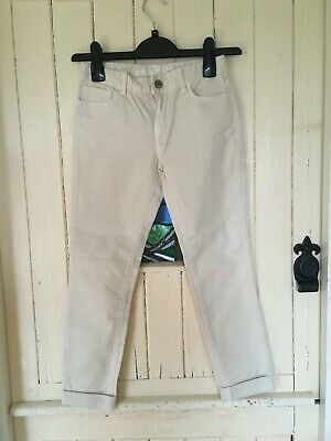 Girl's Cream Skinny Jeans / Chinos GAP Age 10-11 Years
