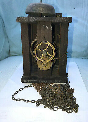 30 Hour ANTIQUE GERMAN BLACK FOREST STRIKING CLOCK MOVEMENT