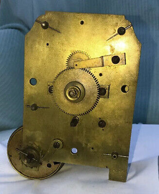 Antique Single Fusee 8 Day Movement Wall Or Bracket Clock