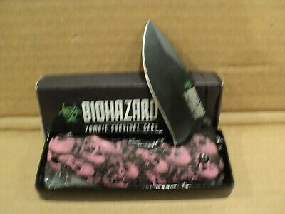 Biohazard Pink Zombie Survival Gear Tactical Spring Assisted Open Pocket Knife