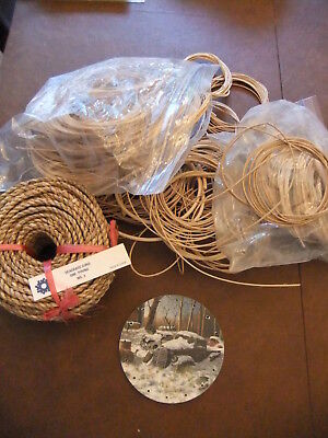 """BASKET WEAVING Round REED+ 1 Pound #3 Seagrass + 5"""" painted Base"""