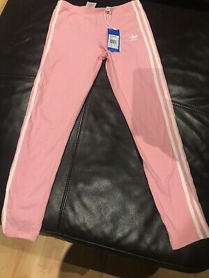 Girls Pink Adidas Leggings Aged 13-14 BNWT