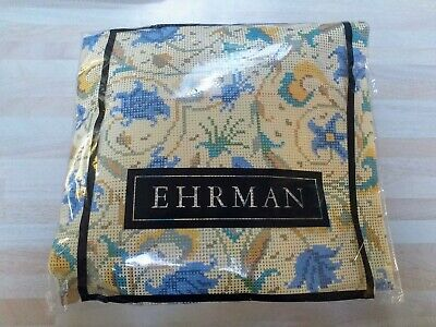 EHRMAN-BEAUTIFUL FLORAL & LEAF COMPLETE TAPESTRY STITCH KIT-NEW in PACKET