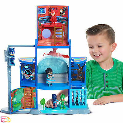 PJ Masks Mission Control HQ Catboy and Romeo Figures Playset 3+ Years FREE POST