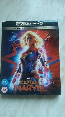 Captain Marvel 4k Ultra HD + Blu-ray And Slip Cover