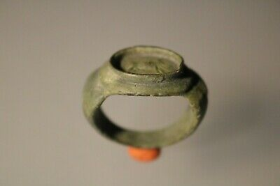 Ancient Fantastic Roman Bronze Ring * Wild Boar 1st - 4th century AD