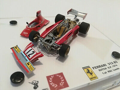 Rare Item Niki Lauda 1:43 Ferrari 312B3-74 1974 #12 Official Licensed With Box