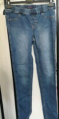 Next Mid Blue Super Skinny High Waisted Jeggings Size 10 Long Vgc