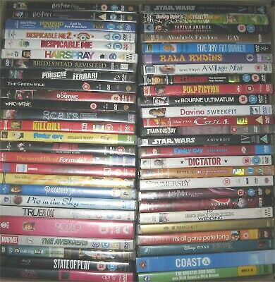 104 Used DVDs Job Lot Wholesale - Walt Disney, 4K, BBC, Star Wars, Boxsets etc