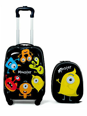 2PC Kids Luggage Set Backpack & Rolling Suitcase for School Travel ABS