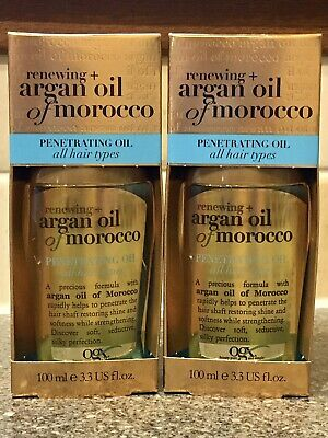 2❌ OGX Renewing + Argan Oil of Morocco Penetrating Oil for All Hair Types 100 ml