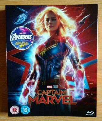 Captain Marvel UK Blu-ray card outer slipcase cover NEW MINT No disc or case!