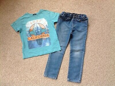Boys Skinny Jeans And California T-shirt Age 5-6