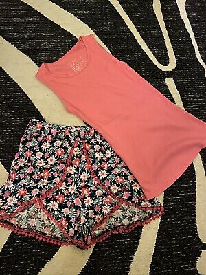 Gorgeous Girls Floral Shorts Set Age 8-10 Yrs