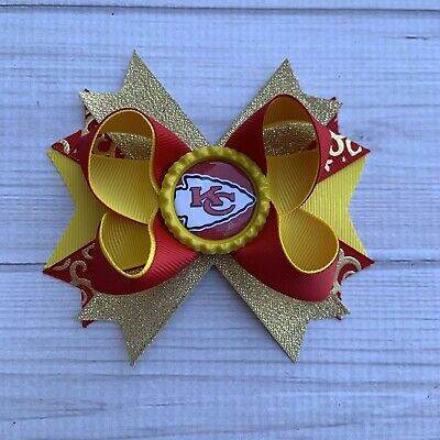 Handmade Kansas City Stacked Boutique Hair Bow