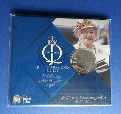 2012 Royal Mint The Queen's Diamond Jubilee BU £5 Five Pound Coin