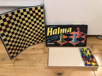 HALMA Board Game - Vintage 1972 Spear's Games -Fun For Family + Kids - Complete