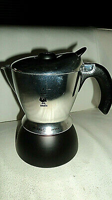 "BIALETTI Italy Stove Top MUKKA EXPRESS Cappuccino Coffee Percolator 8"" high ."