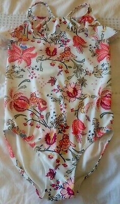 NEXT GIrls Floral/Animal Print Ruffle Top Swimming Costume Age 4 Years BNWT