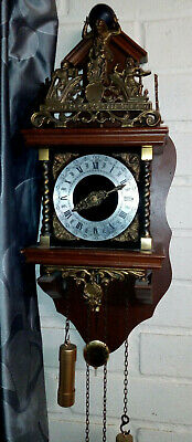 Vintage Dutch Zaandam Wall Clock with Battery movement  - Please read listing