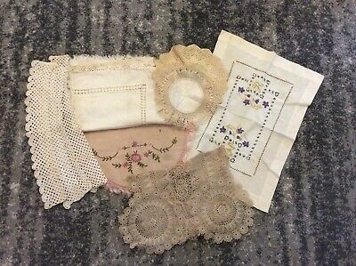 Original English Antique Lacework And Linen Reduced