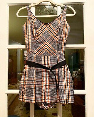 1960s Plaid Bathing Suit
