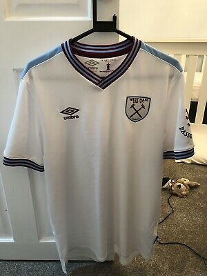 2019-20 West Ham United Away Shirt - Large - NO SPONSOR - Worm Great Condition