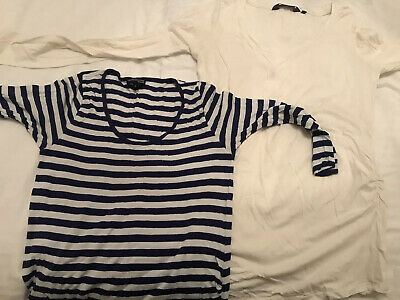 2 X Maternity Tops Long Sleeve Size 8-10 New Look, M&S