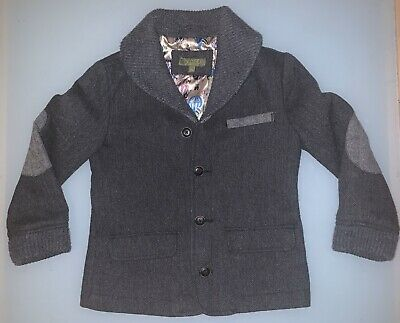 Ted Baker Boys Jacket, Dark Grey, Age 9-10 - Great Condition
