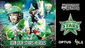 MELBOURNE STARS vs. BRISBANE HEAT Tickets x4 FAMILY PASS GA Sat 25th Jan 7:10pm