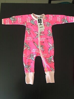 Bonds Zip Zippy Wondersuit Baby Girl (DISNEY PINK TINKERBELL) BNWT Size 00