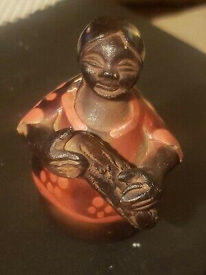 Vintage/ Antique Hand-Carved Painted Woman Figurine PERU