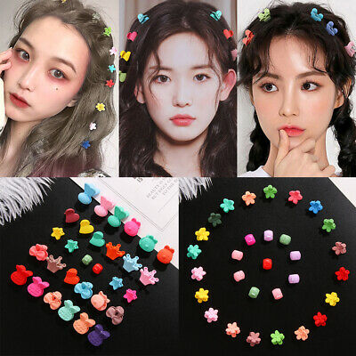 Kids Baby Girls Mini Claw Hair Clips Flower Hairpins Candy Color Hair Claw Clip