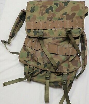 Large Australian Army Backpack webbing pack pouch 1990 Camping Paintball Fishing