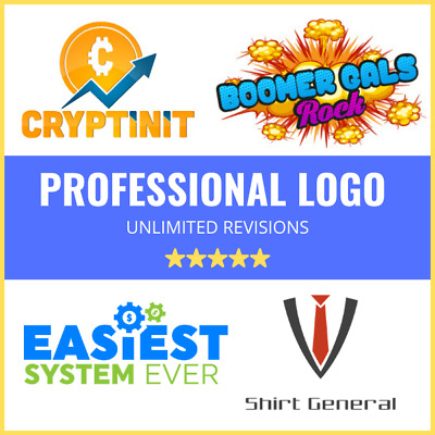 Professional Logo Design - Source File - Custom Unlimited Revisions (50% Off)
