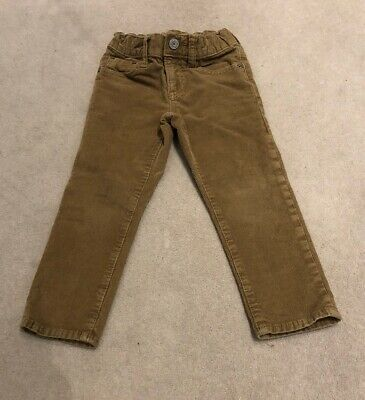 Gorgeous Gap Brown Corduroy Trousers Age 3 Excellent Condition Slim Fit