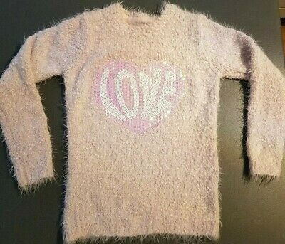 Bluezoo for Debenhams pale pink fluffy jumper. Age 7-8. Great condition.