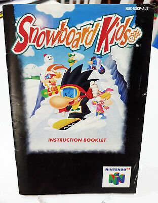 Nintnedo 64 N64 *MANUAL ONLY* Snowboard Kids Instruction Booklet PAL