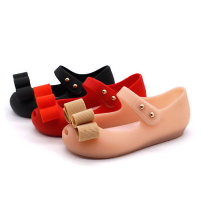 Children Girl Kids Bow Jelly Mary Janes Princess Shoes Summer Sandals Waterproof
