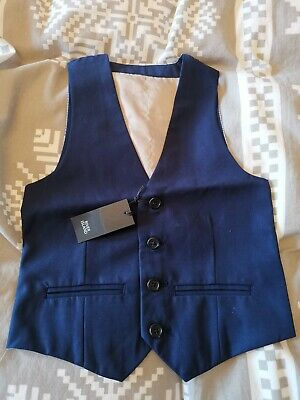 BNWT boys blue suit waistcoat by RIVER ISLAND in size 7 years