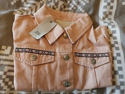 BNWT girls pink embellished jacket by RIVER ISLAND in size 5-6 years
