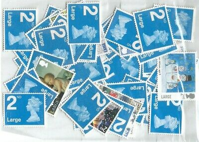 50 x 2nd class Large Letter stamps, un-franked
