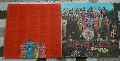 THE BEATLES : Sgt Peppers Lonely Hearts Club band : UK parlophone vinyl lp 1967