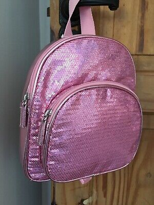 M&S Girls Pink Sequin Back Pack - BNWT