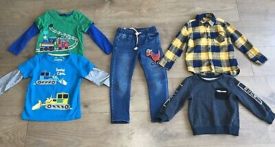 Boys bundle 2-3 years pull up jeans jumper shirt long sleeve tops G18