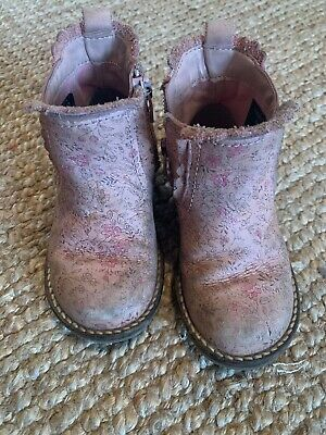 Girls Infant 6 Next Chelsea Boots Pink Zip