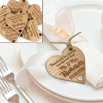 Personalised Wedding Favour Tags, Table Decor Name Place Setting Bridesmaid Gift