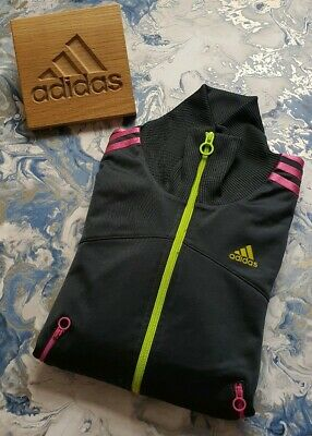 🔥AUTHENTIC🔥 Girls Youth ADIDAS Tracksuit Top Jacket Hoodie Coat AGE 13 14